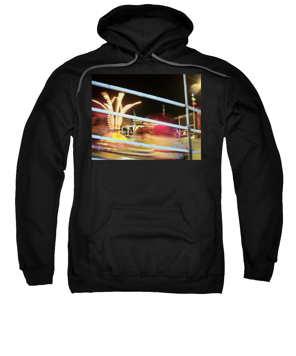 State Fair Sweatshirt featuring the photograph Tilt-a-whirl 2 by Anita Burgermeister