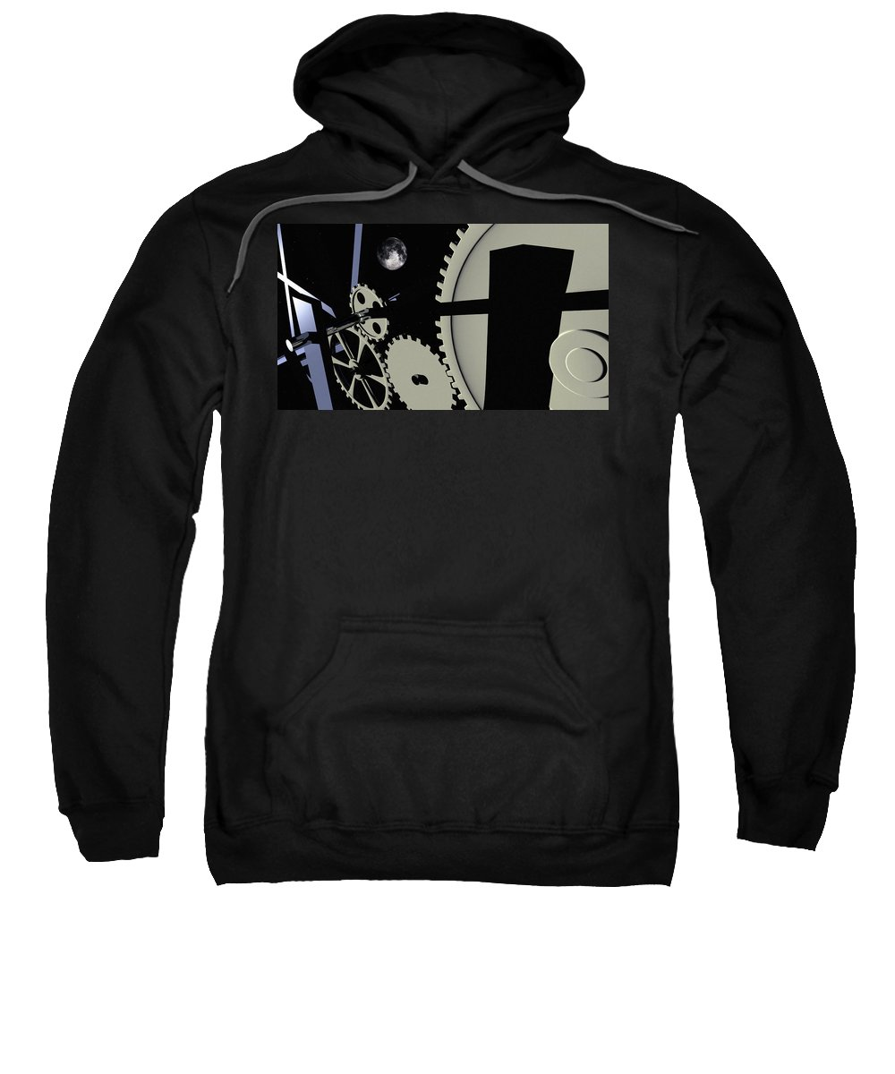 Abstract Sweatshirt featuring the digital art Time And Space by Richard Rizzo