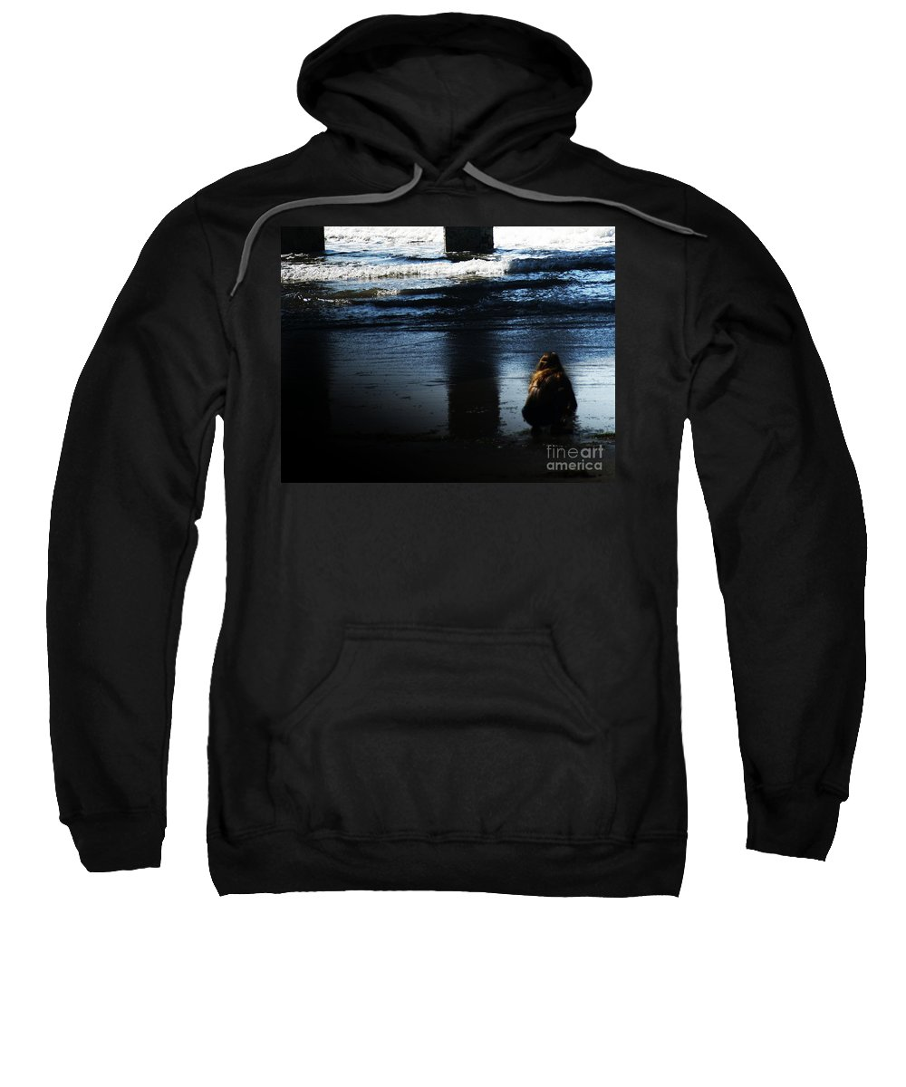 Pacific Sweatshirt featuring the photograph Time by Linda Shafer