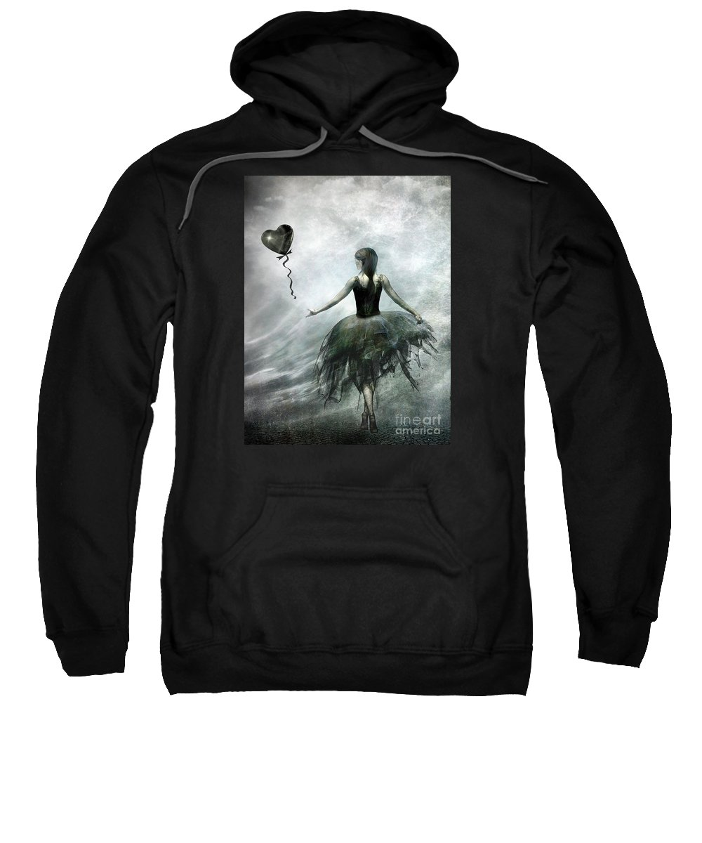 Ballet Sweatshirt featuring the painting Time To Let Go by Jacky Gerritsen