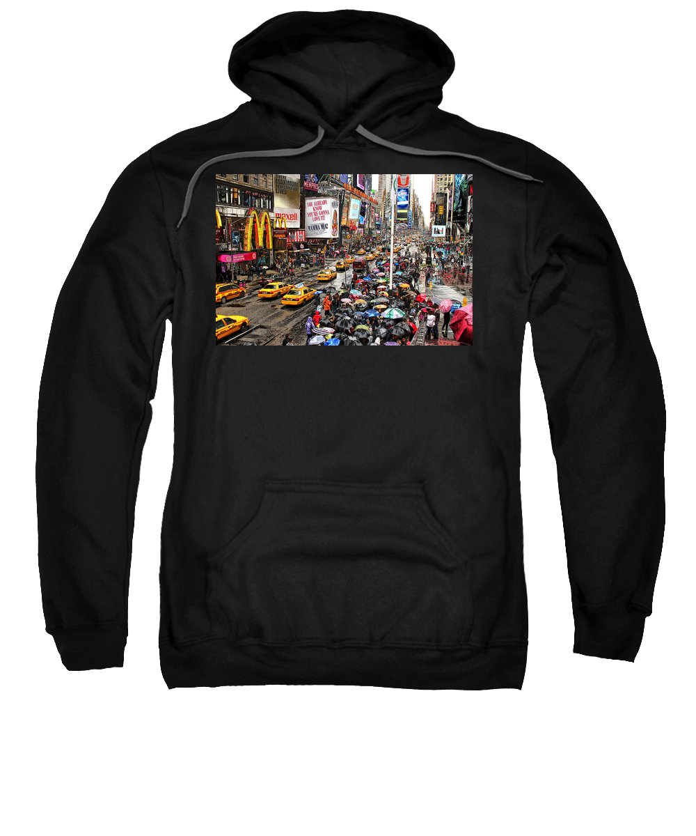 New York Sweatshirt featuring the photograph Times Square 1 by Andrew Fare