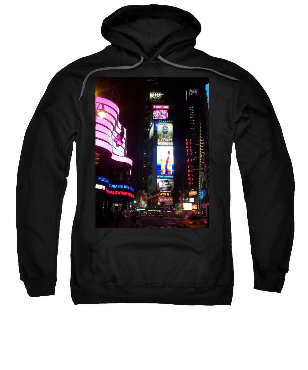 Times Square Sweatshirt featuring the photograph Times Square 1 by Anita Burgermeister