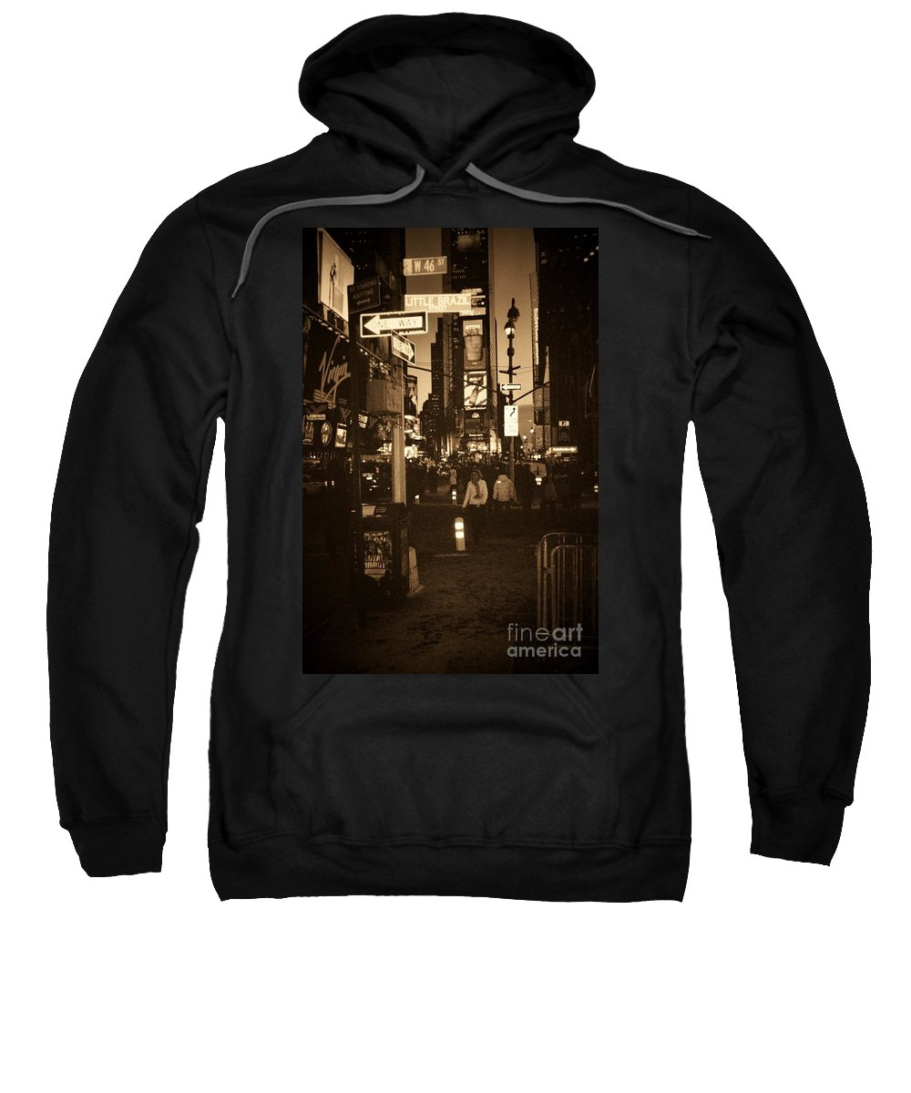 New York Sweatshirt featuring the photograph Times Square by Debbi Granruth