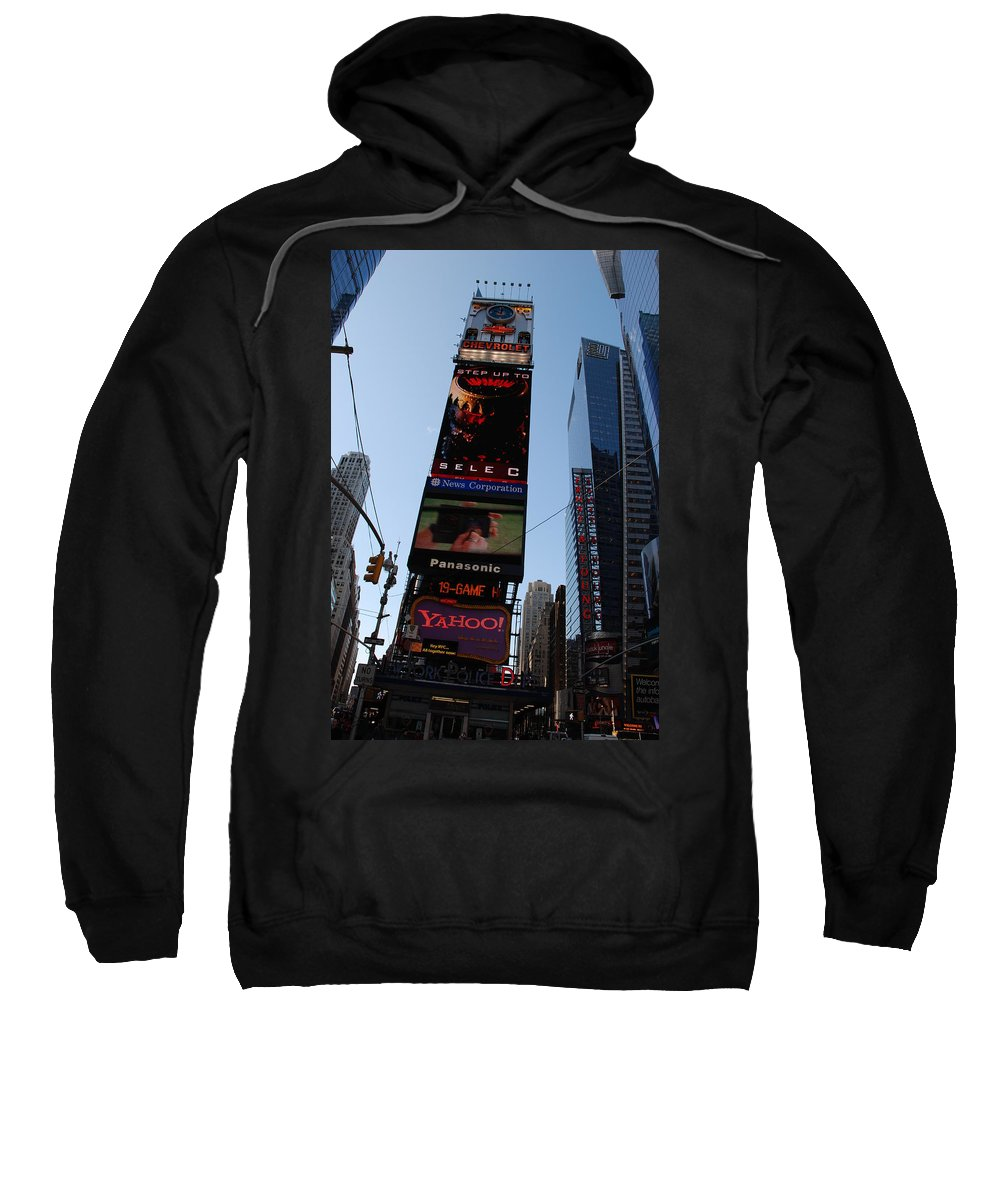 Times Square Sweatshirt featuring the photograph Times Square by Rob Hans