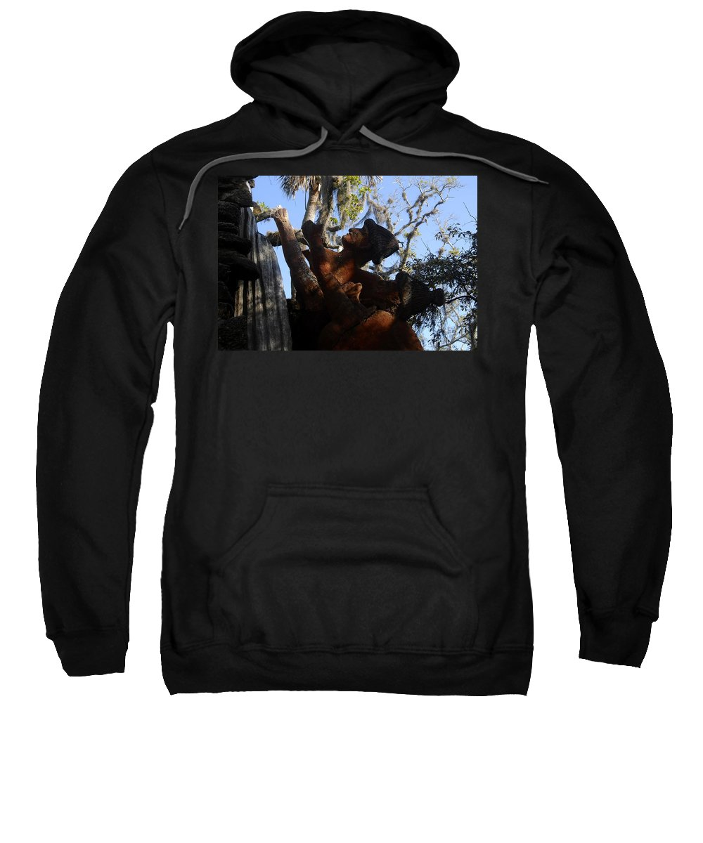 Timucuan Indains Sweatshirt featuring the photograph Timucuan Warriors by David Lee Thompson