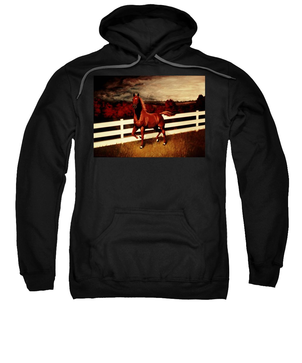 Landscape Sweatshirt featuring the painting Tink by Rachel Christine Nowicki