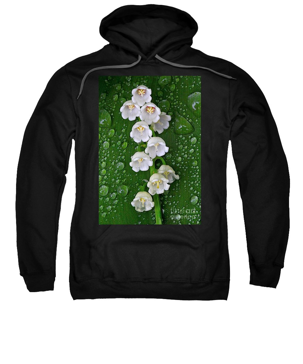 Related Tags: Flowers Artwork Sweatshirt featuring the photograph Tiny Bells by Robert Pearson