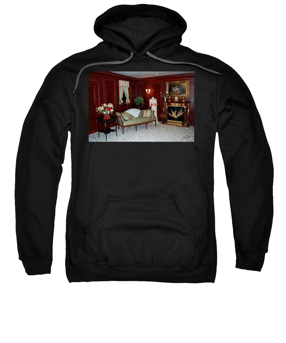 Titanic Sweatshirt featuring the digital art Titanic First Class by DigiArt Diaries by Vicky B Fuller
