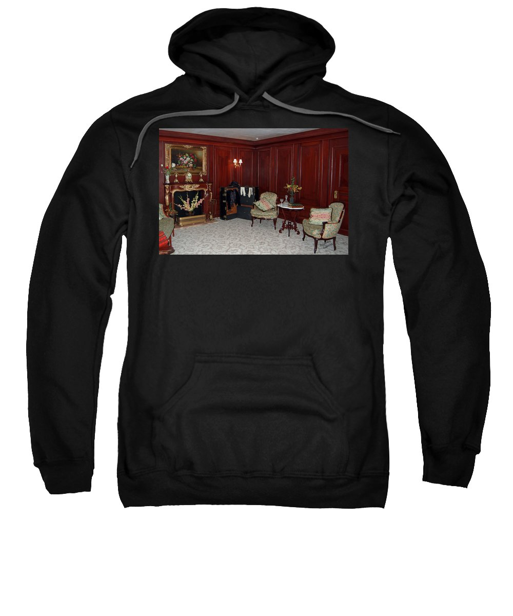 Titanic Sweatshirt featuring the digital art Titanic First Class II by DigiArt Diaries by Vicky B Fuller