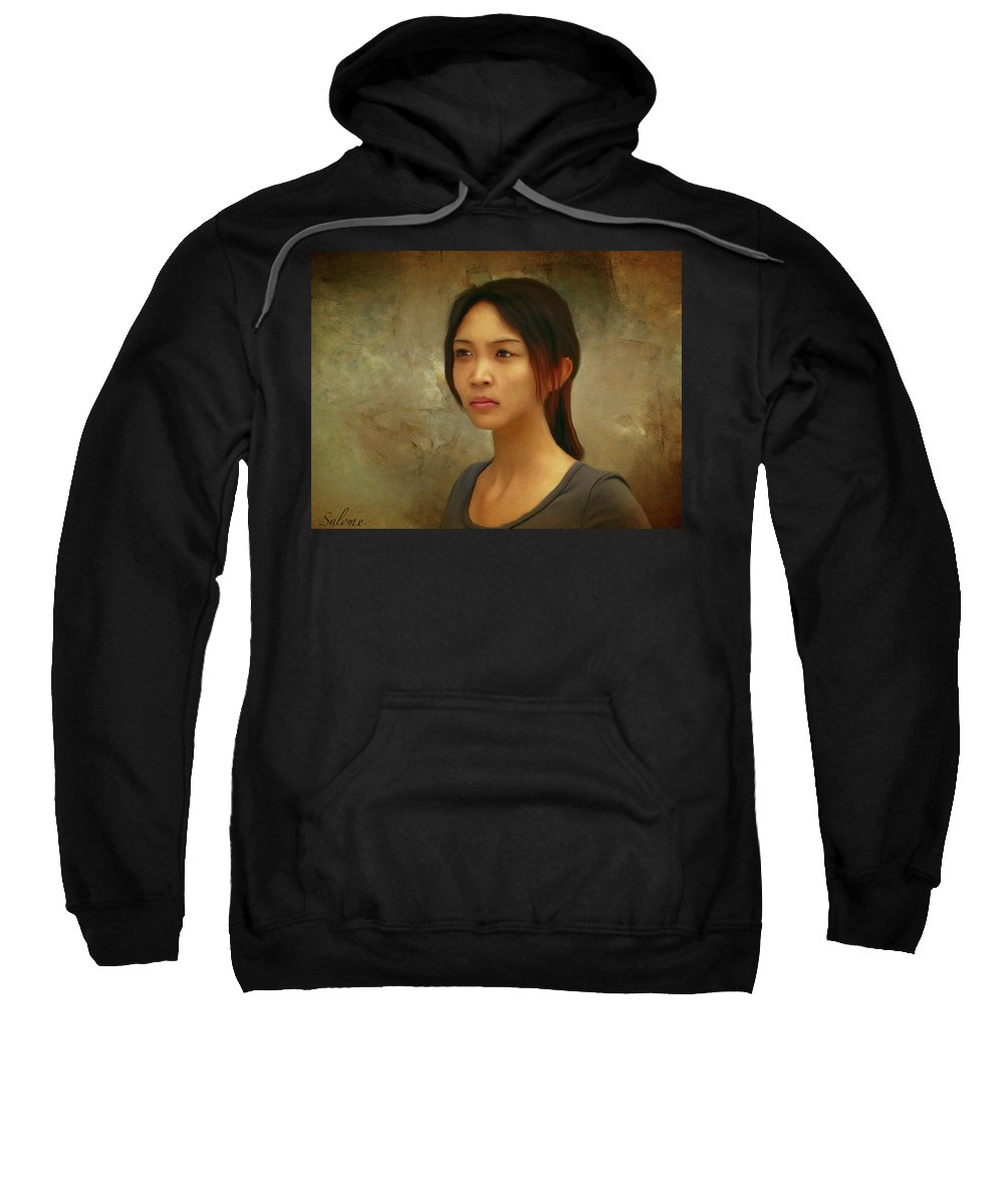 Salome Sweatshirt featuring the painting Toey by Salome Hooper