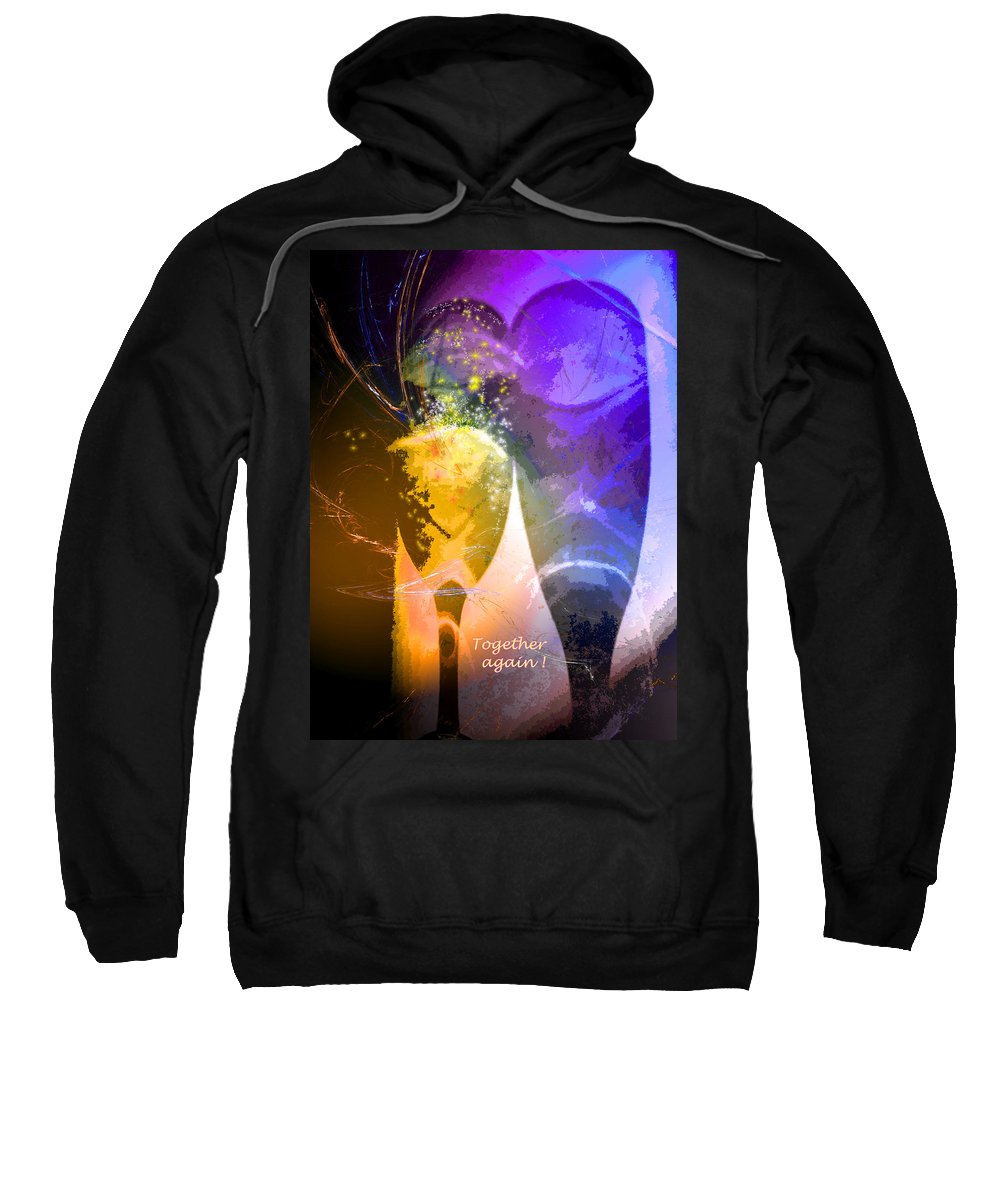 Fantasy Sweatshirt featuring the photograph Together Again by Miki De Goodaboom