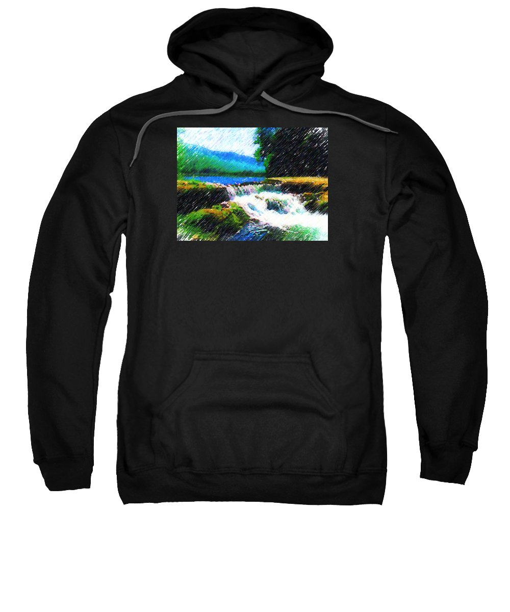 Landscape Sweatshirt featuring the photograph Tolhuaca by Madalena Lobao-Tello