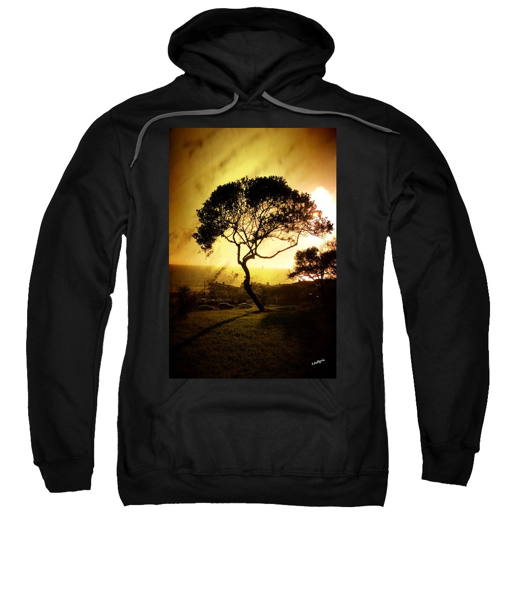 Tree Sweatshirt featuring the photograph Top Of The Hill by Scott Pellegrin