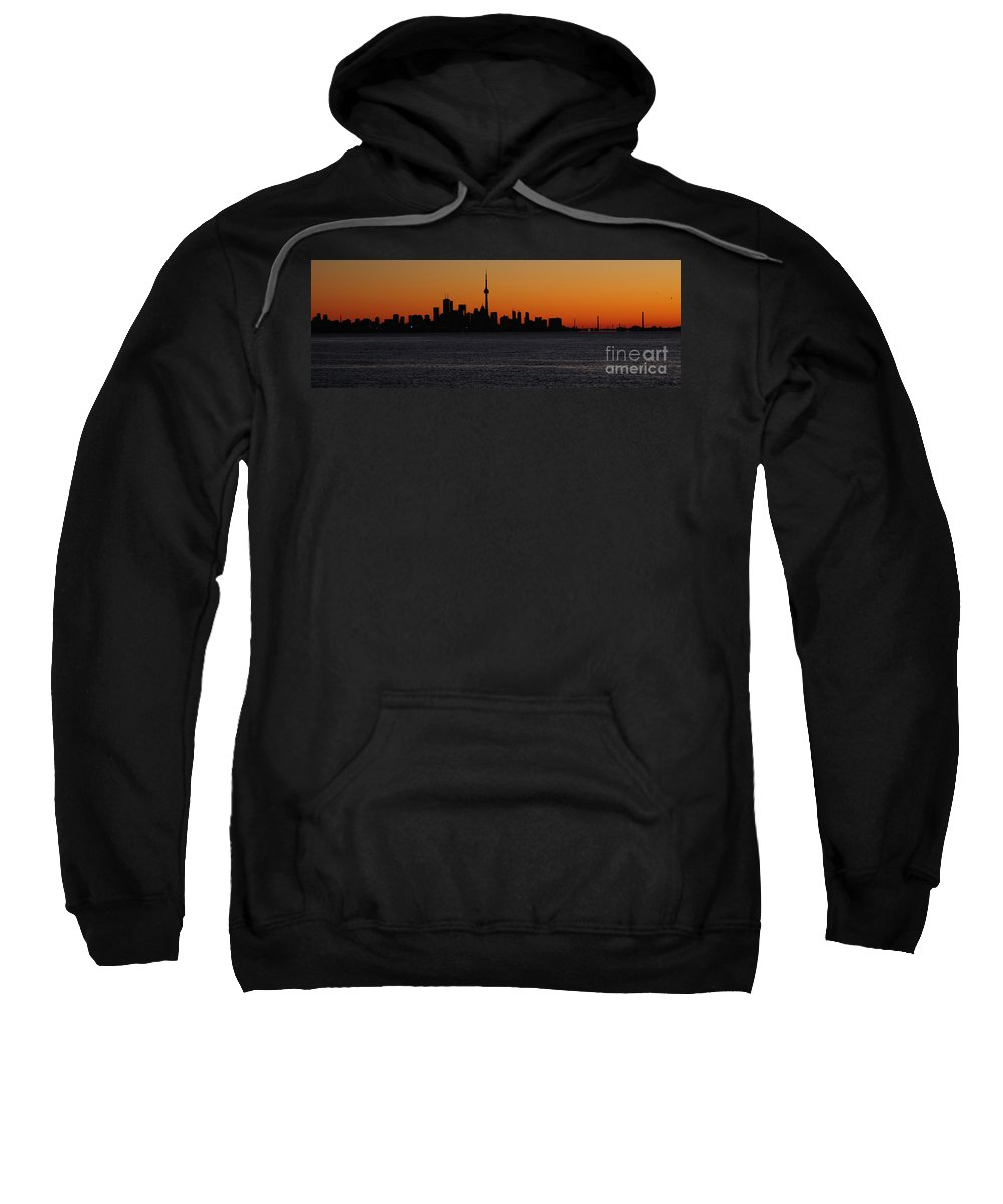 Toronto Sweatshirt featuring the photograph Toronto Skyline by Joe Ng