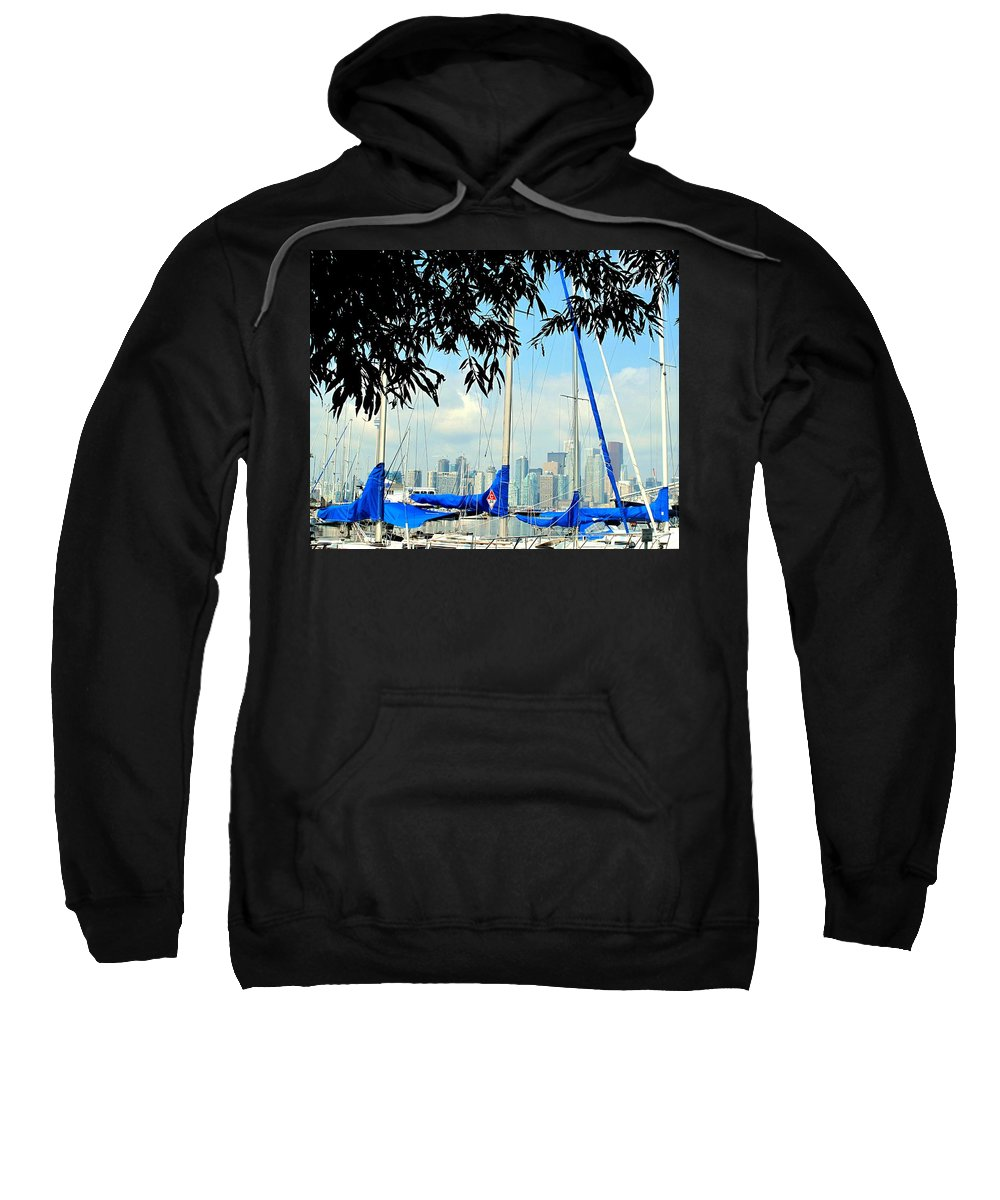 Toronto Sweatshirt featuring the photograph Toronto Through A Forest Of Masts by Ian MacDonald