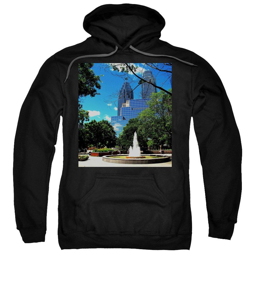 Park Sweatshirt featuring the photograph Toronto Wellington Street Park by Ian MacDonald