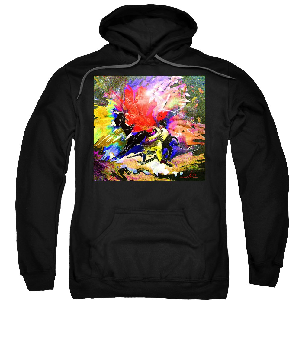 Animals Sweatshirt featuring the painting Toroscape 06 by Miki De Goodaboom