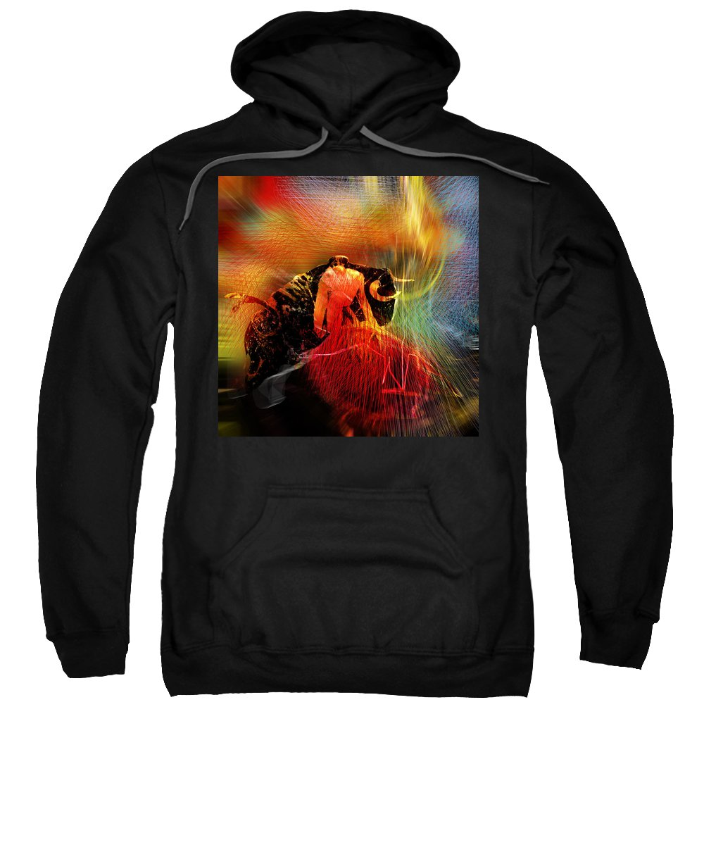 Toros Sweatshirt featuring the painting Toroscape 19 by Miki De Goodaboom