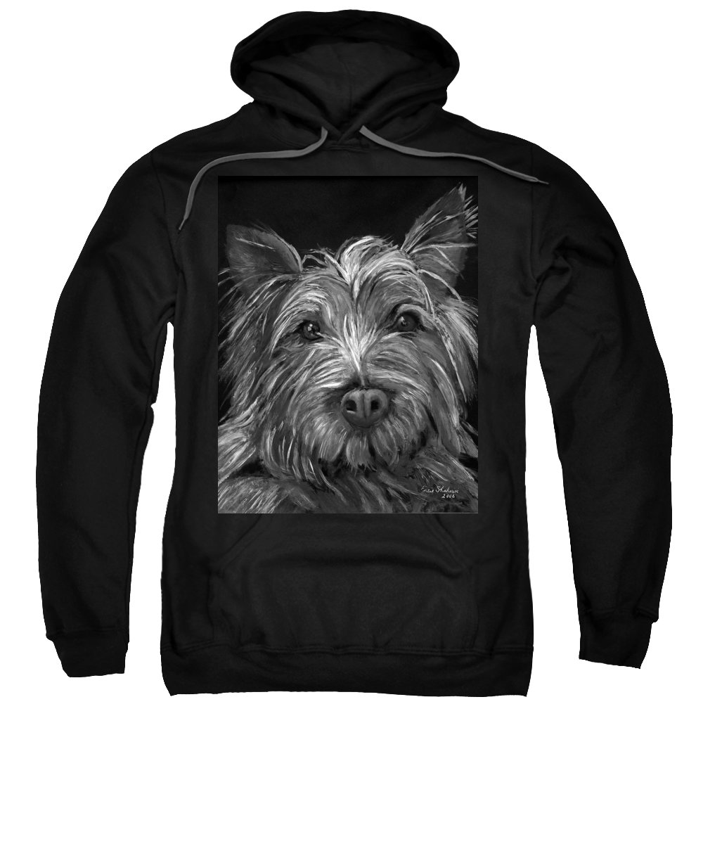 Dogs Sweatshirt featuring the painting Tosha The Highland Terrier by Portraits By NC