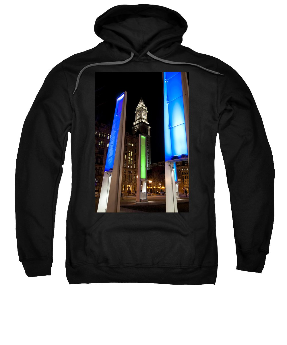 Light Sweatshirt featuring the photograph Towers Of Light by Greg Fortier