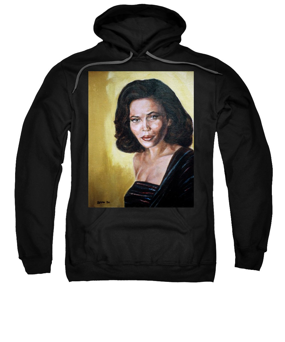 Tracey Ross Sweatshirt featuring the painting Tracey Ross by Bryan Bustard
