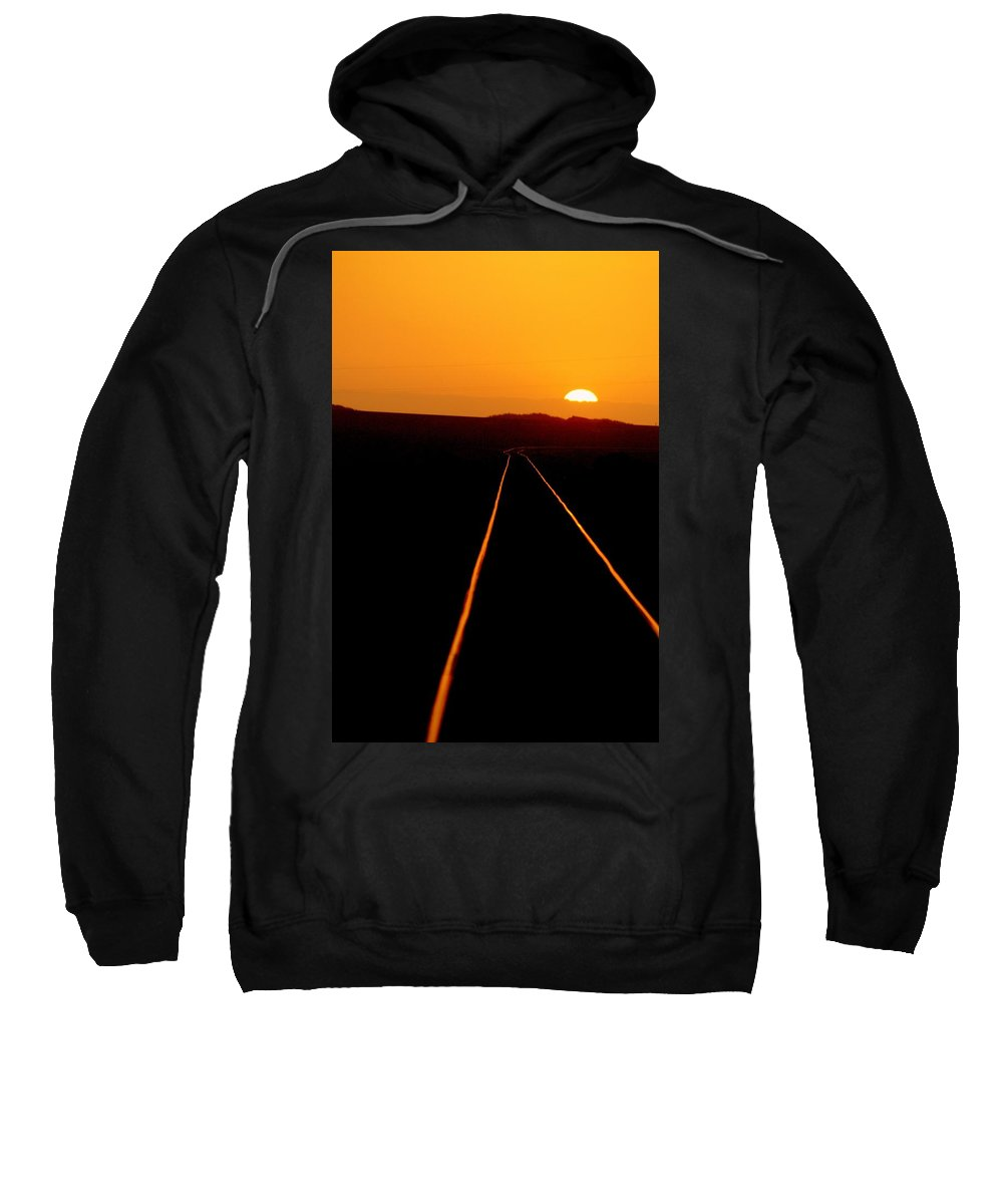 Train Track Sweatshirt featuring the photograph Tracks Of My Tears by Lynn Andrews