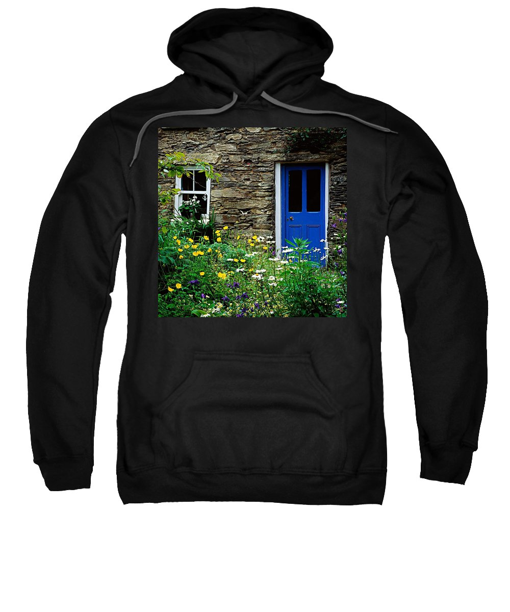 Building Sweatshirt featuring the photograph Traditional Cottage, Co Cork by The Irish Image Collection