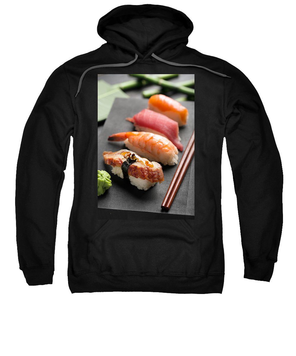Vadim Goodwill Sweatshirt featuring the photograph Traditional Japanese Sushi 2 by Vadim Goodwill