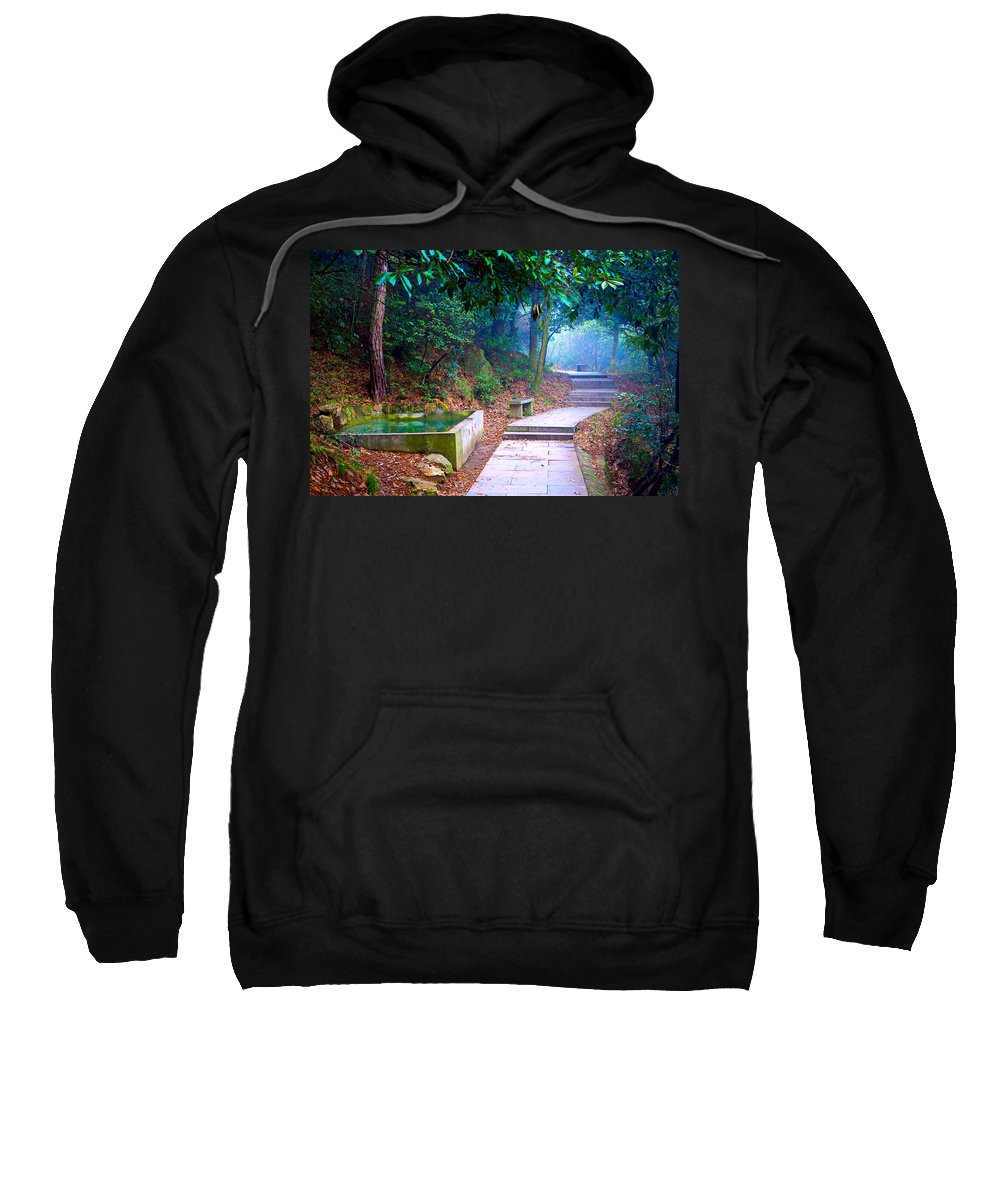 Trail Sweatshirt featuring the photograph Trail In Woods by James O Thompson