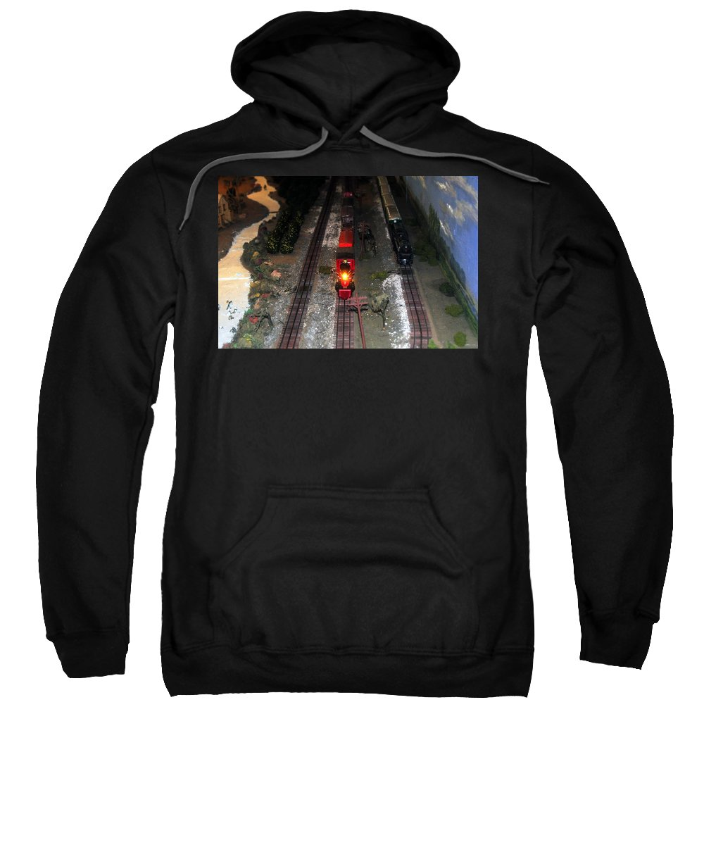 Train Sweatshirt featuring the photograph Train Set by David Lee Thompson