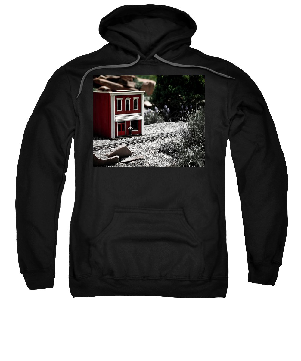 Train Sweatshirt featuring the photograph Train Station by Marilyn Hunt