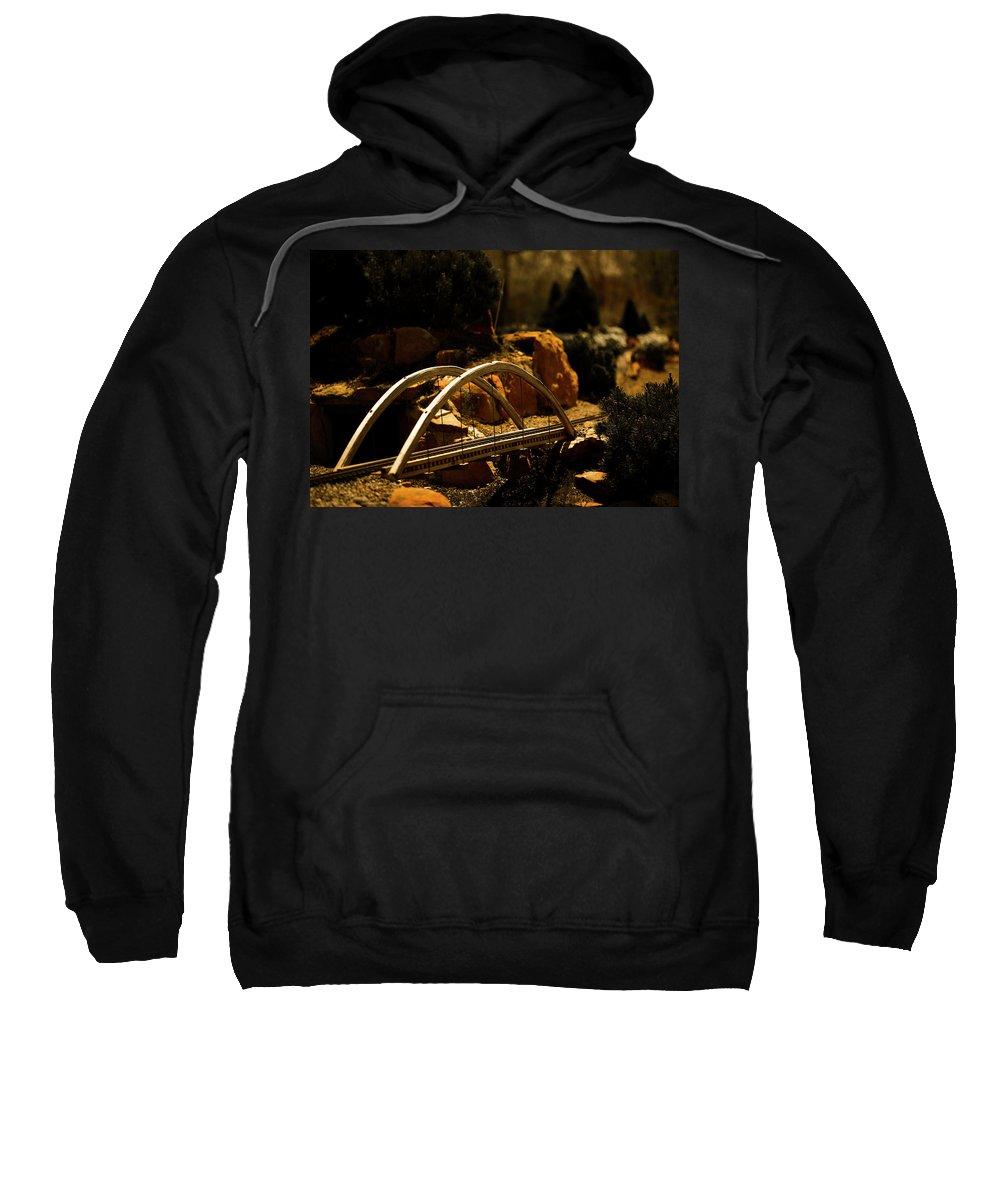 Train Sweatshirt featuring the photograph Train Trestle by Marilyn Hunt