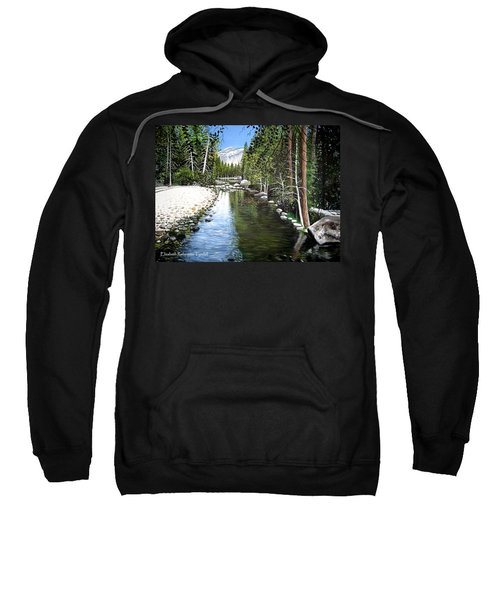 Trees Sweatshirt featuring the painting Tranquil Forest by Elizabeth Robinette Tyndall