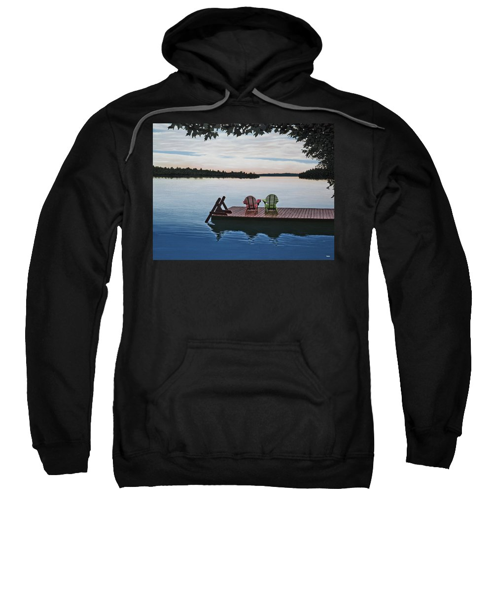Landscapes Paintings Sweatshirt featuring the painting Tranquility by Kenneth M Kirsch