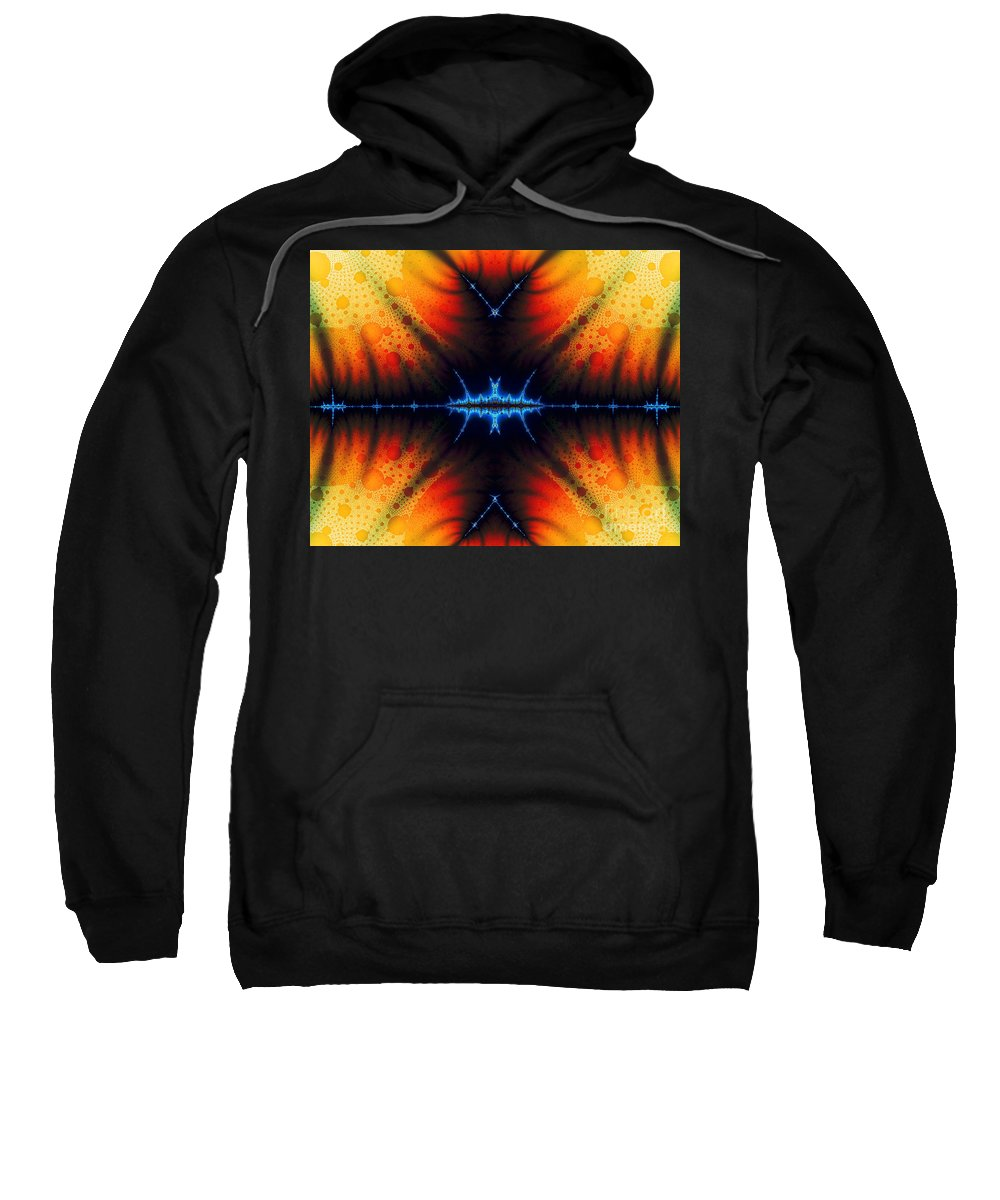 Clay Sweatshirt featuring the digital art Transient Propagation by Clayton Bruster