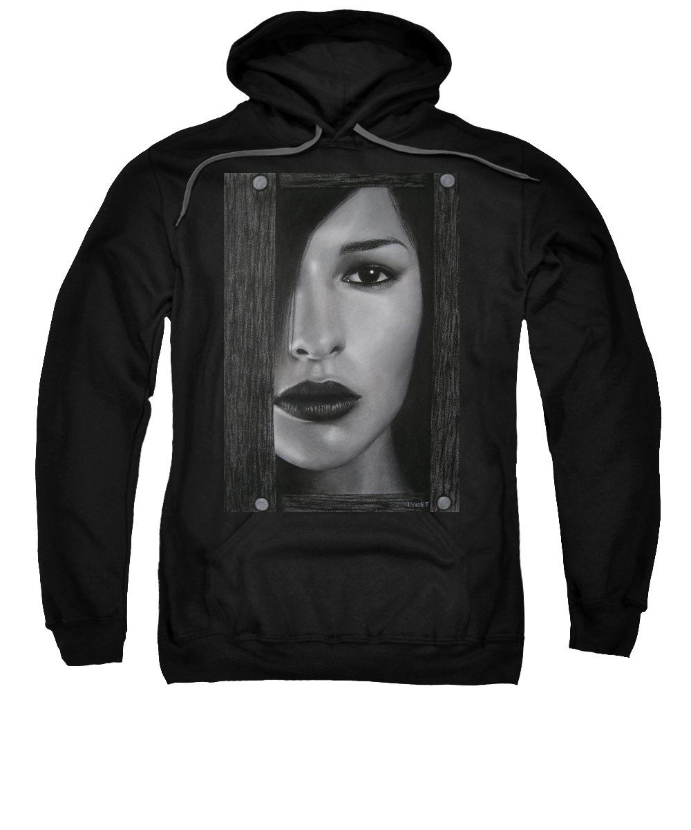 Woman Sweatshirt featuring the painting Trapped by Lynet McDonald