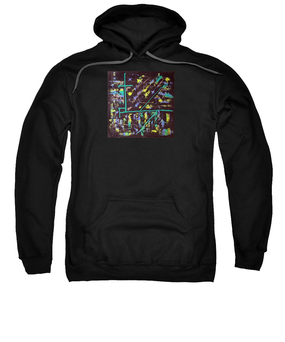 Impressionist Painting Sweatshirt featuring the painting Trawler And Wharf by J R Seymour