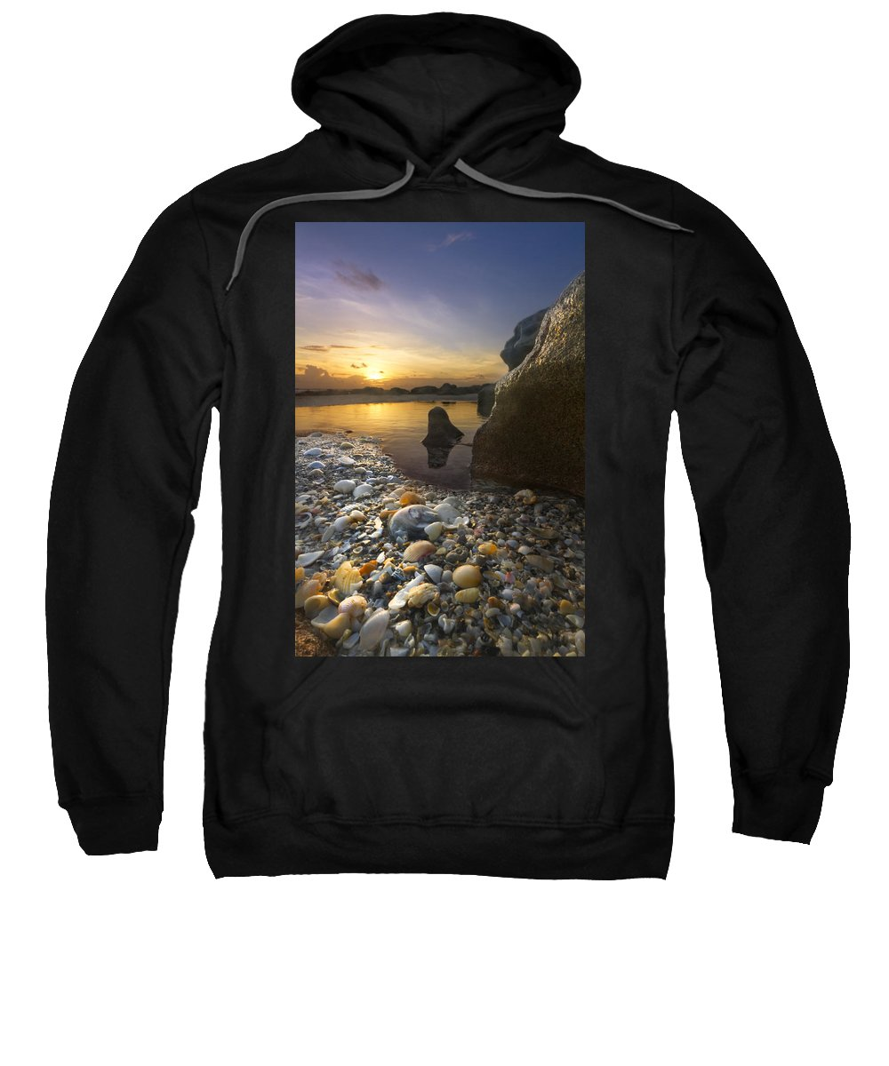 Clouds Sweatshirt featuring the photograph Treasure Cove by Debra and Dave Vanderlaan