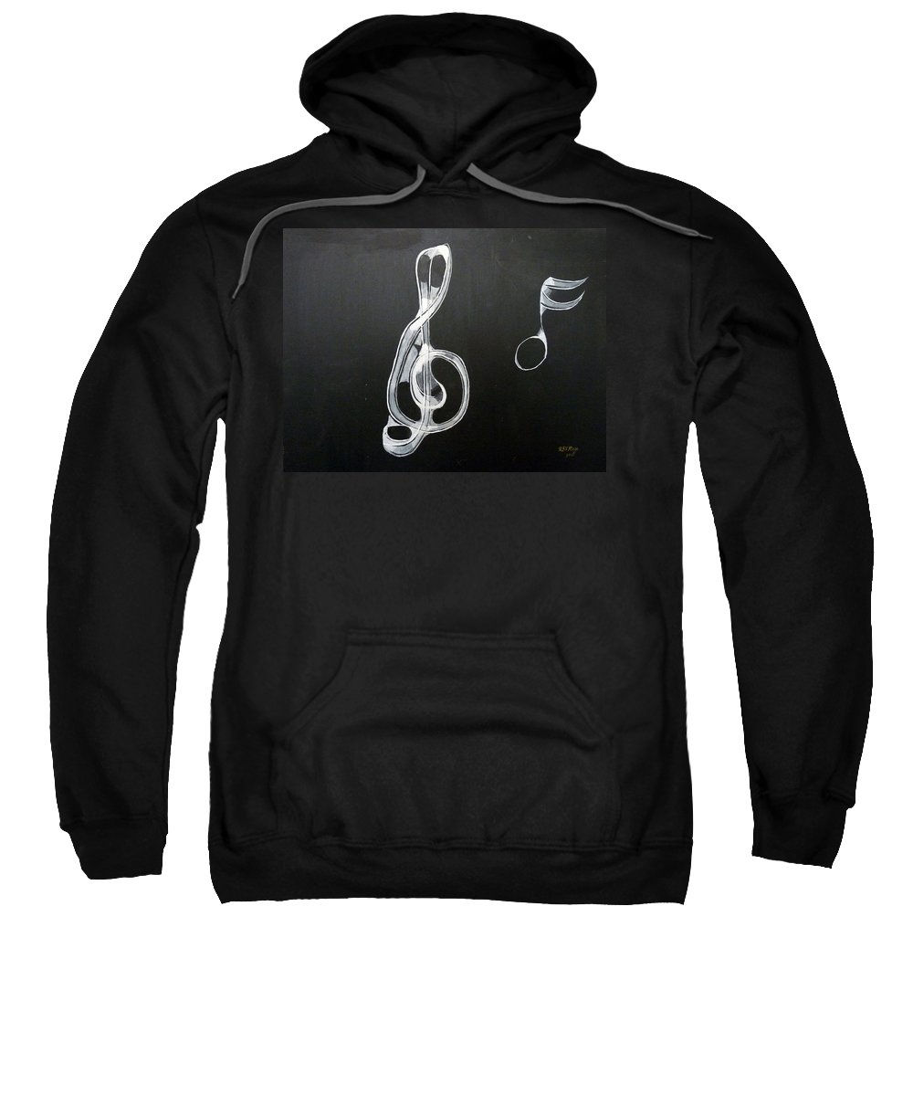 Treble Clef Sweatshirt featuring the painting Treble Clef by Richard Le Page