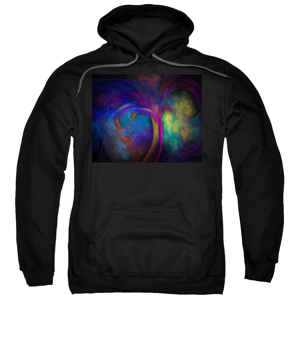 Fractal Sweatshirt featuring the digital art Tree Of Life by Lyle Hatch