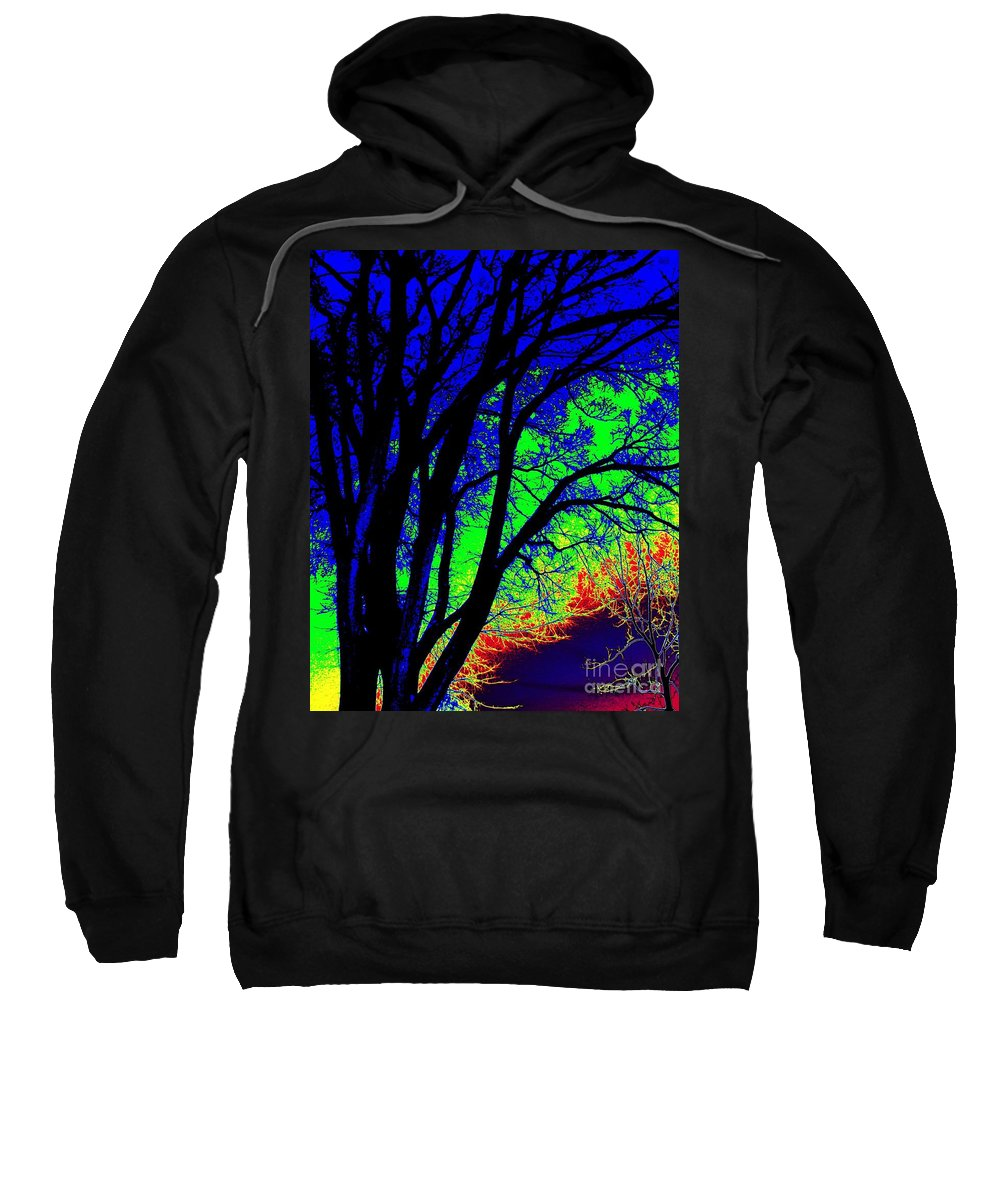 Tye-dye Sweatshirt featuring the photograph Tree One by Dawn Downour