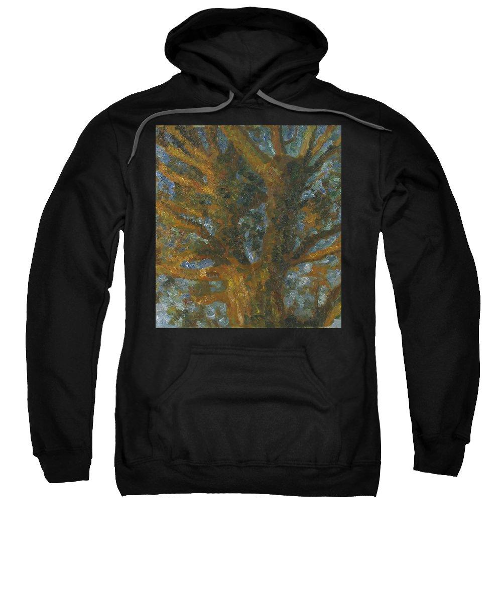 Impasto Painting Sweatshirt featuring the painting Tree by Robert Nizamov
