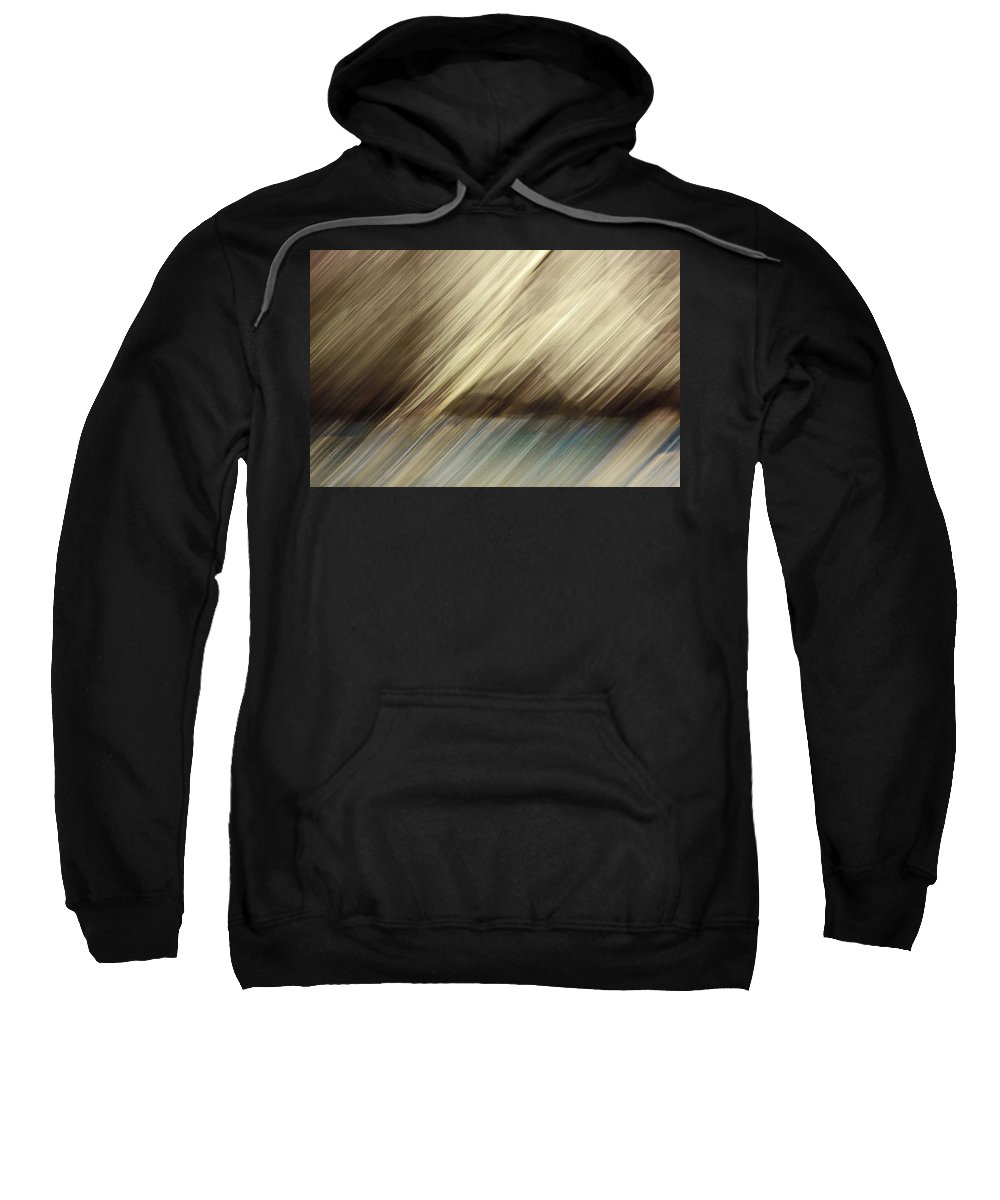 Trees Sweatshirt featuring the photograph Trees And Pond by Alan Skonieczny