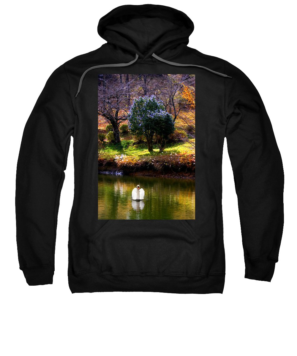 Swan Sweatshirt featuring the photograph Trees In Japan 8 by George Cabig