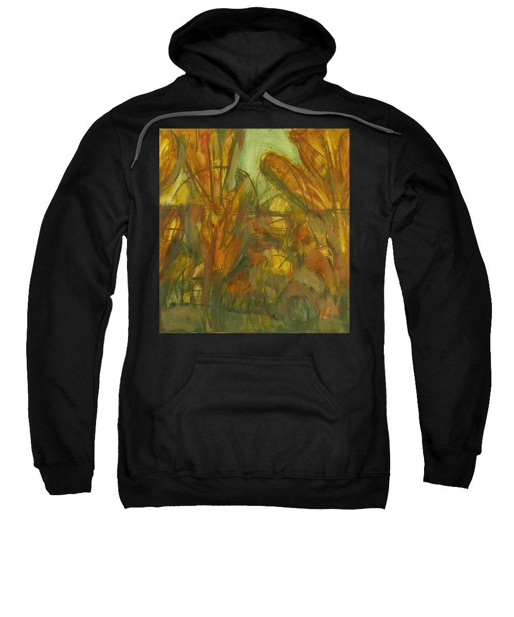 Sunlight Sweatshirt featuring the painting Trees by Robert Nizamov