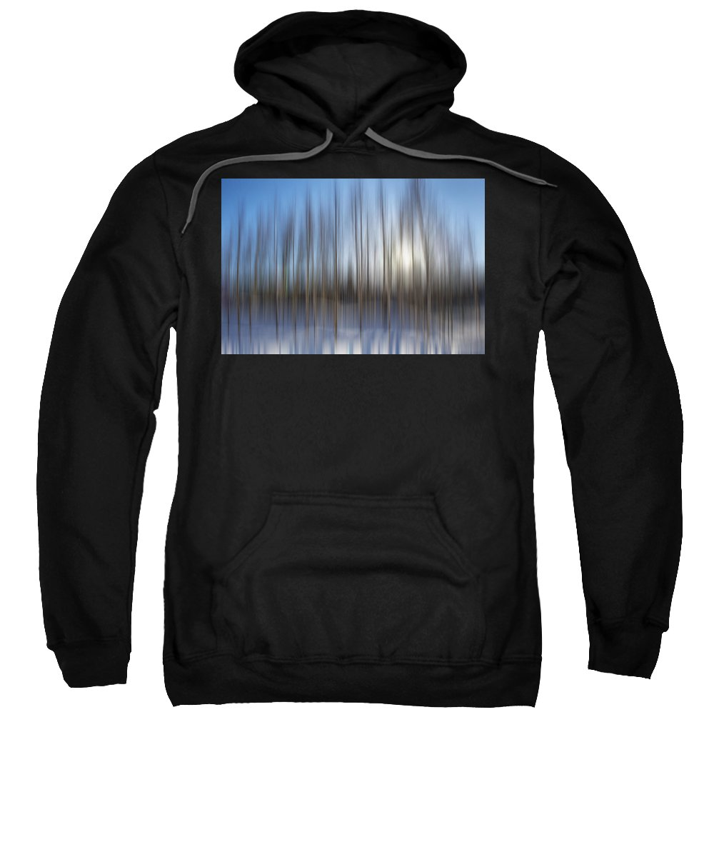 Abstract Sweatshirt featuring the photograph trees Alaska blue abstract by Pam Elliott