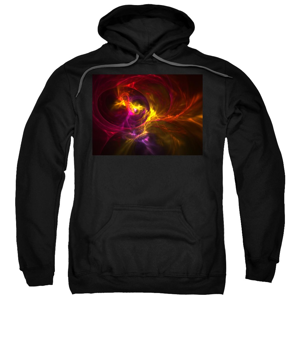 Fractal Sweatshirt featuring the digital art Trip The Light Fantastic by Lyle Hatch