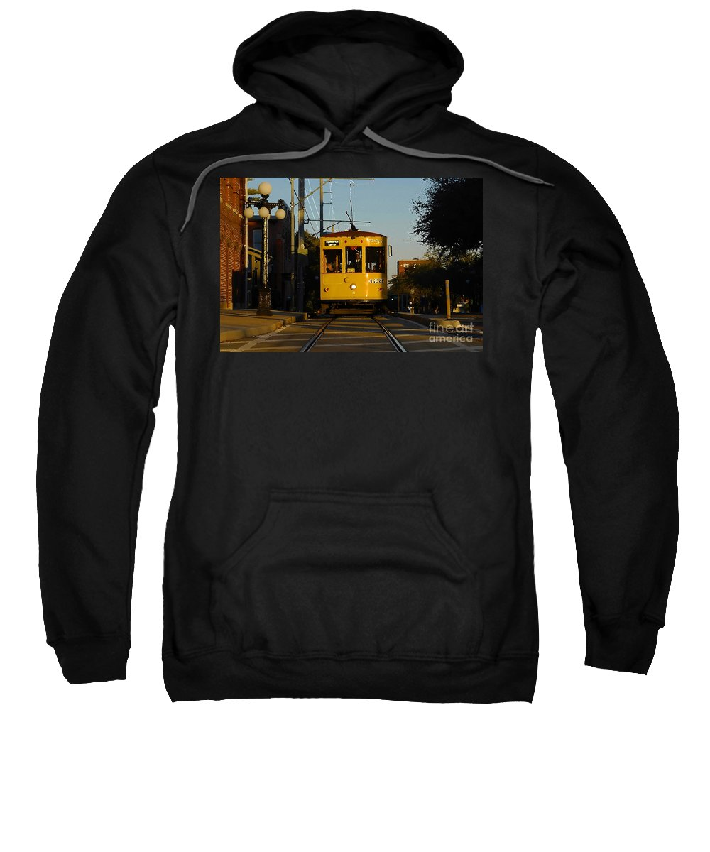 Trolley Sweatshirt featuring the photograph Trolley Ride by David Lee Thompson