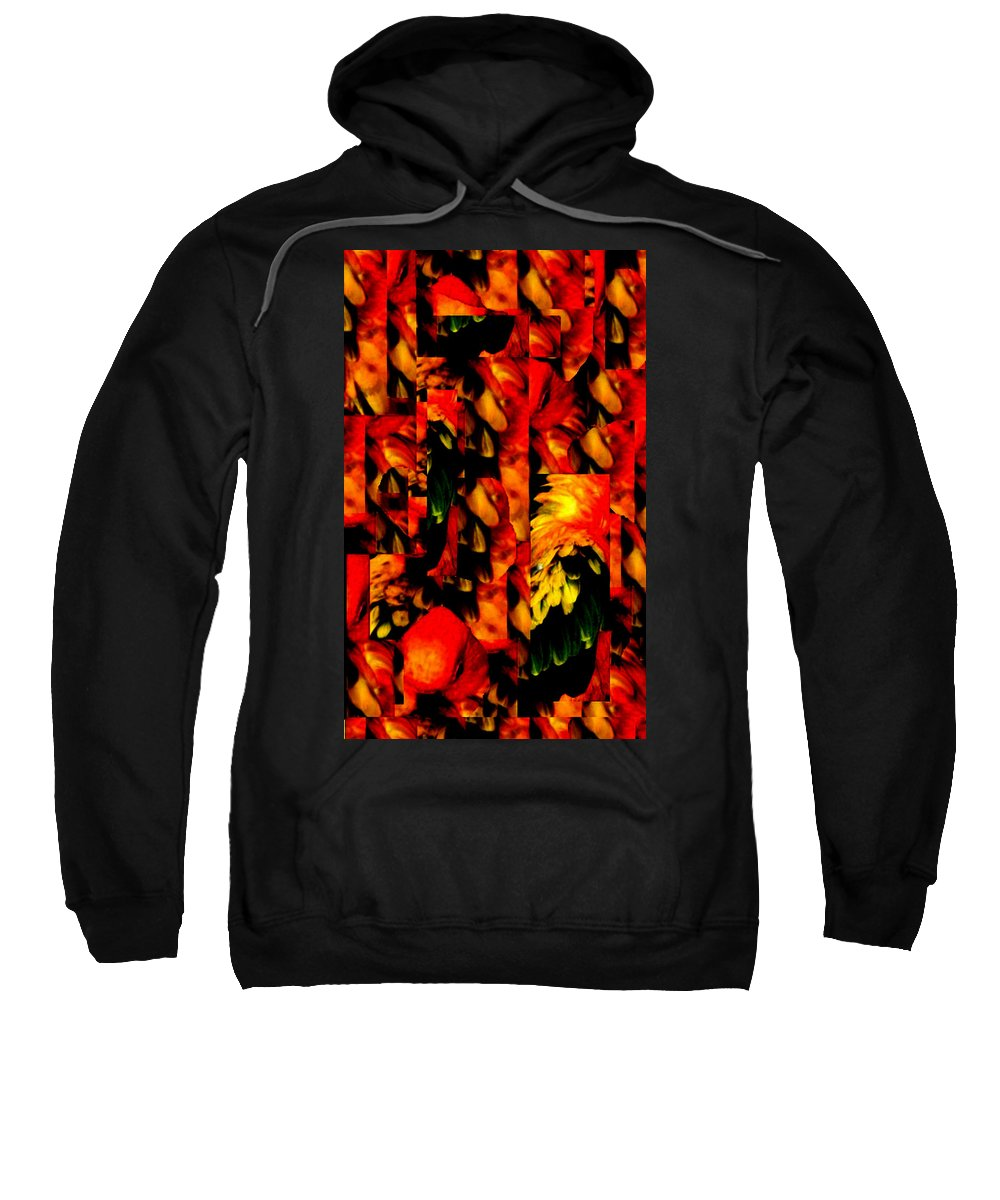 Abstract Sweatshirt featuring the digital art Tropic by Rachel Christine Nowicki