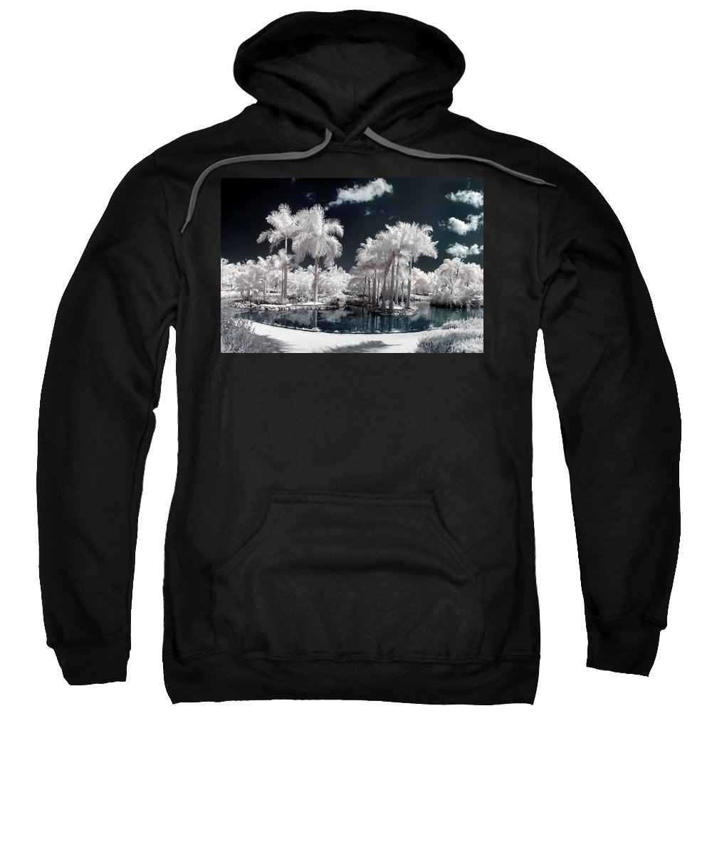 3scape Photos Sweatshirt featuring the photograph Tropical Paradise Infrared by Adam Romanowicz